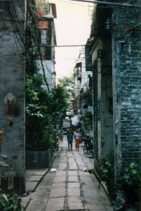 Small walking street in Guangzhou