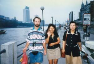 Walking along the Pearl River