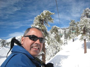 Going up Chair 3 Mt. Baldy