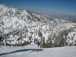 Run near Chair 3 Mt. Baldy
