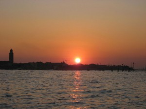 Sunset in Venice harbor