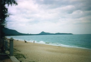 View of Chaweng beach from the southern tip.