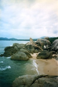 Interesting rock formations on Koh Samui.