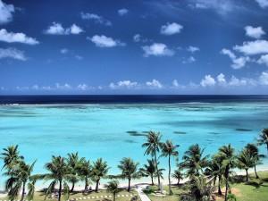 Guam island beach view
